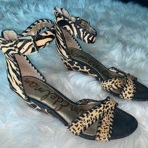 Multi animal print Sam Edelmon wedge sandal
